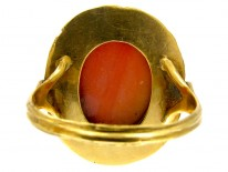 Georgian Gold & Carved Coral Head Ring