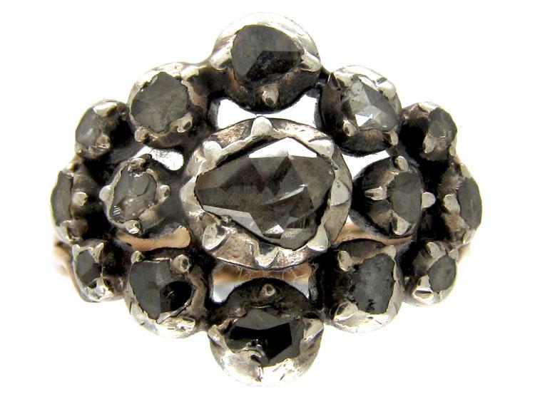 Georgian Multi Rose Diamond Ring