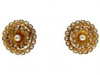 Pearl & Gold Earrings