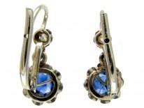 Sapphire & Diamond Edwardian Drop Small Earrings