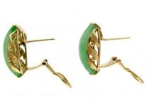 Jade & Gold Earrings