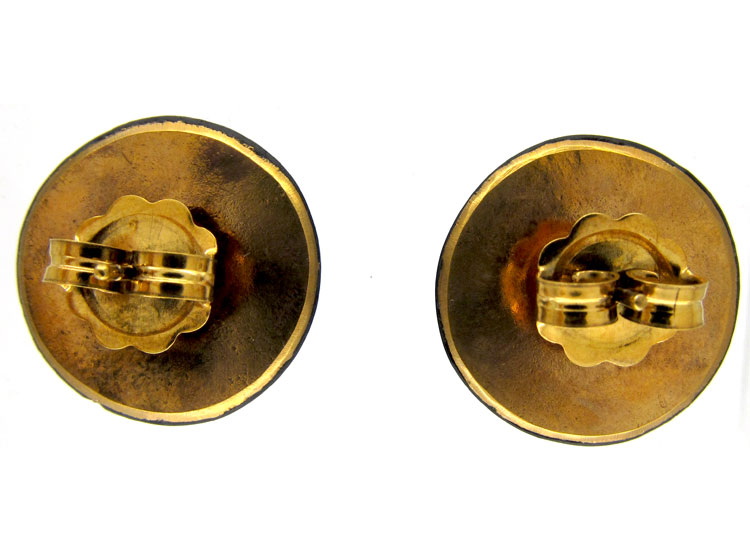 Victorian Round Pique Earrings