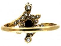 Sapphire & Diamond Edwardian Twist Ring