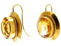 Victorian Citrine & Gold Earrings