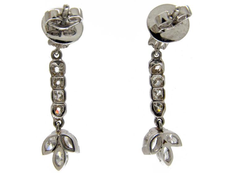 Retro Diamond Drop Earrings