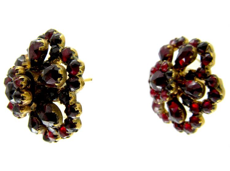 Bohemian Garnet Earrings