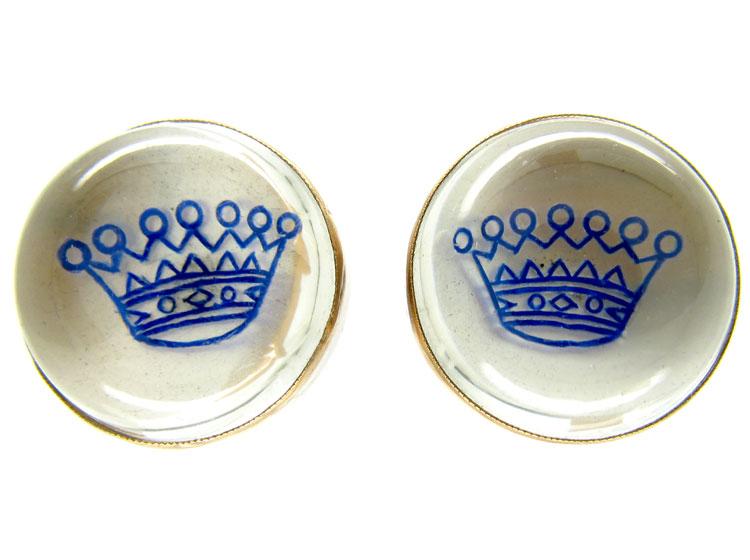 Rock Crystal Crown Earrings