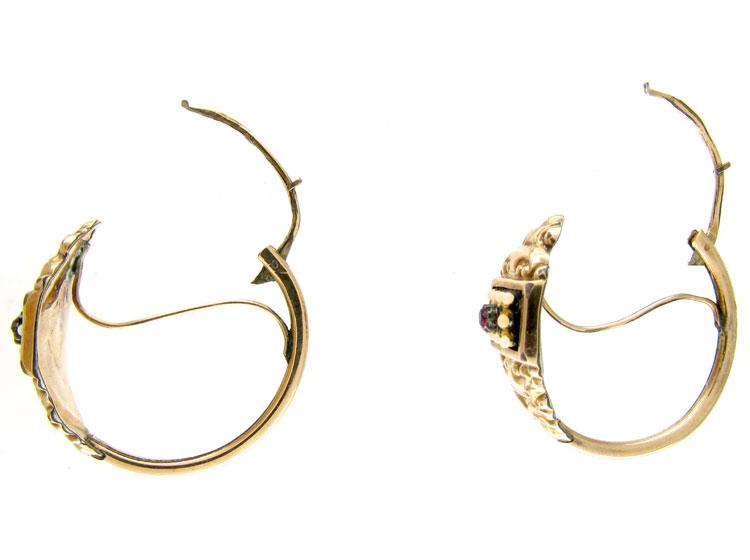 Georgian Gold Hoop Earrings