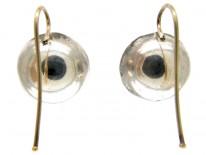 Amethyst Coloured Paste Earrings