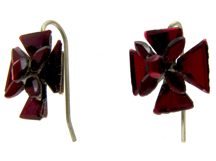 Red Vauxhall Glass Earrings
