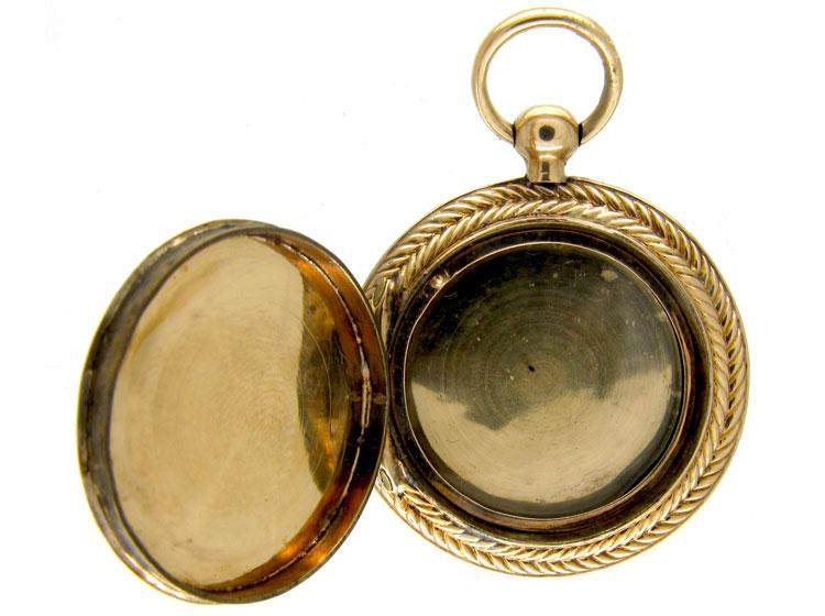 Gold Engraved Georgian Locket