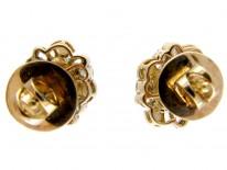 Aquamarine, Pearl & Diamond Earrings