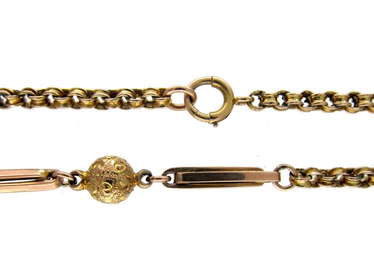 Victorian Gold Bobble Chain