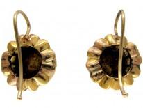 Rose Diamond Gold Earrings