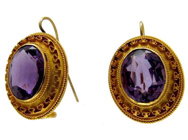 Gold & Amethyst Earrings