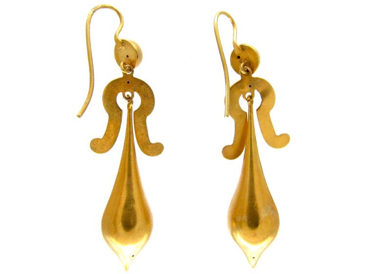 Victorian Gold Drop Earrings