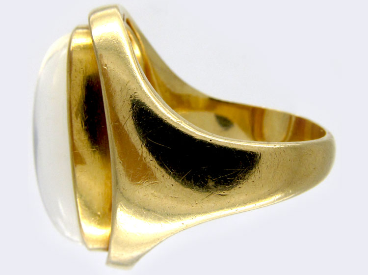 Moonstone Retro Gold Ring