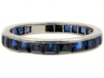 Sapphire 18ct White Gold Eternity Ring