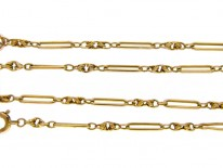 15ct Gold Decorated Chain
