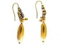 Emerald Gold Drop Earrings