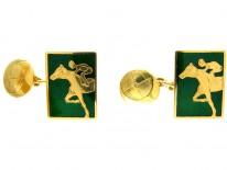 18ct Gold Racing Cufflinks