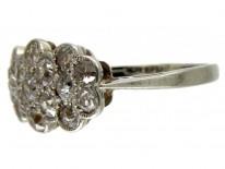 Diamond Triple Cluster Edwardian Ring
