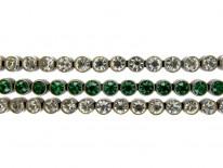 Green & White Paste Silver Bracelet