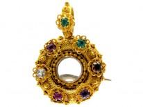 Regency Regard 18ct Gold Locket Brooch