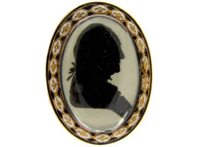 Georgian Miniature Mourning Ring of Man