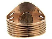 Georgian Miniature Mourning Ring of Man