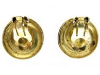 Theodor Farhner Silver Gilt Swirly Earrings