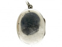 Silver Small Oval Victorian Locket