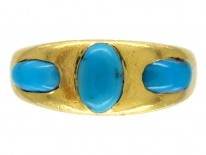 Victorian Three Stone Turquoise Ring