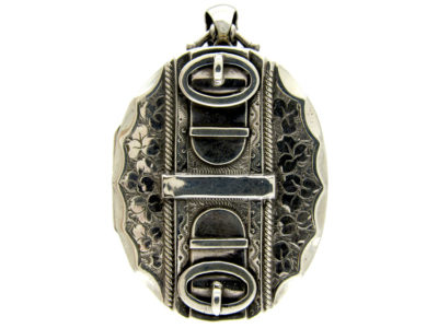 Victorian Silver Buckle Design Locket