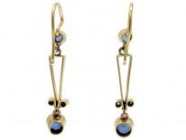 Sapphire & Diamond Edwardian Drop Earrings