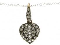 Victorian Diamond Heart Pendant on Chain