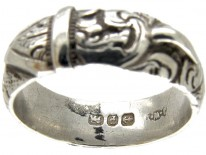 Silver Victorian Buckle Ring