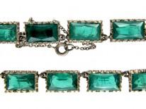 Green Lazarus Paste & Silver Necklace