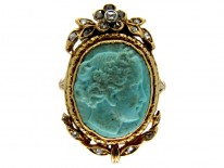 Carved Turquoise Head Ring