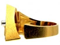 Lapponia 18ct Gold Lapis & Diamond Ring