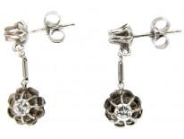 Diamond Drop Art Deco Earrings