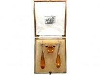 Citrine Drop Earrings & Ring in Original Box