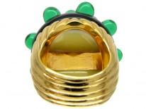 Large Venetian Glass 1980s Ring