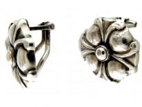 Georg Jensen Silver Clip Earrings
