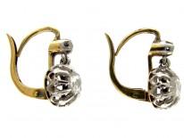 Rose Diamond 18ct Gold Victorian Earrings