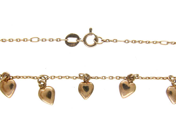 Silver Gilt Hearts Necklace