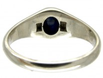Cabochon Sapphire & Diamond Art Deco Ring