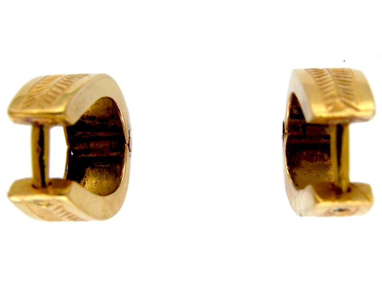 18ct Gold Hoop Earrings