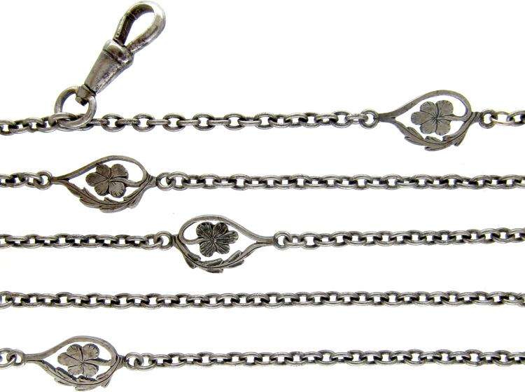 Steel Art Nouveau Guard Chain