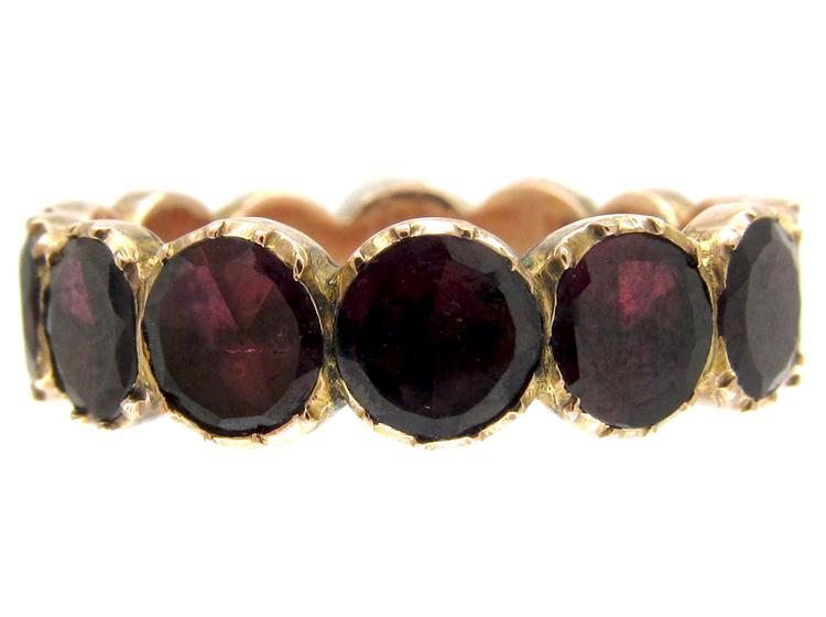 Georgian Almandine Garnet Eternity Ring